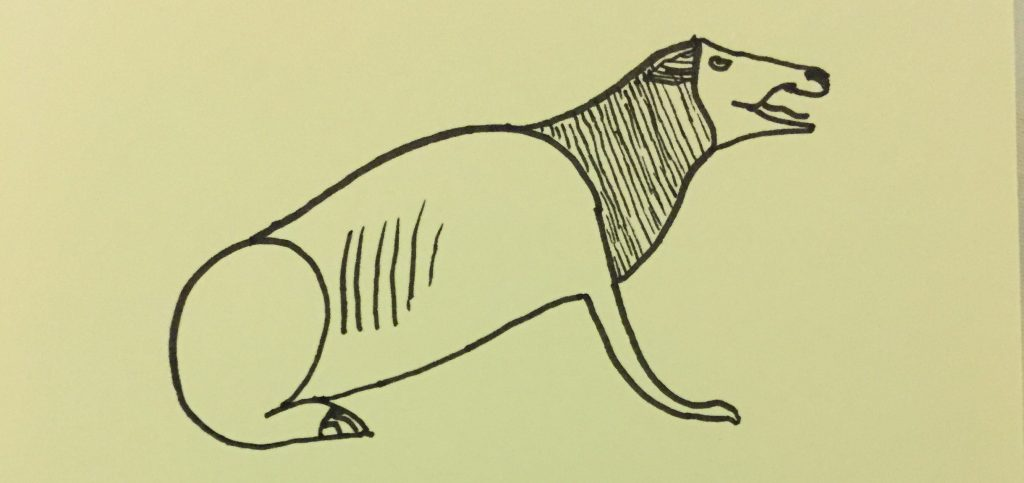 Fast sketch of an Egyptian creature